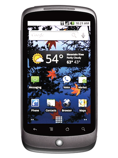 Nexus One Front View Custom Screen